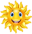 Cute smiling sun cartoon vector image vector image