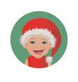 cute smiling tongue out baby santa claus emoticon vector image vector image
