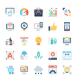 Design and Development Colored Icons 2 vector image vector image
