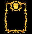 gemini zodiac sign with golden frame horoscope vector image vector image