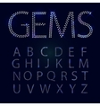 Gems alphabet All capital letters vector image