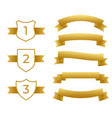 gold ribbons and labels set vector image vector image