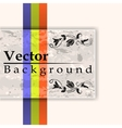 Grunge card with three lines vector image vector image
