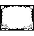 halloween frame with skulls and pumpkins vector image vector image