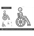 Handicap line icon vector image