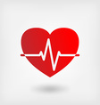 heart cardiogram symbol vector image