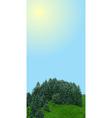 landscape vertical banner vector image