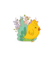 little chick farm with garden vector image