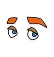 Man eyes cartoon