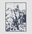 medieval castle in hill in tuskany italy vector image vector image