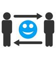 men smile exchange icon vector image vector image