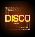 neon sign disco party vector image vector image