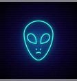 neon ufo sign glowing neon ufo icon bright vector image vector image