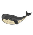 old whale icon cartoon style vector image vector image