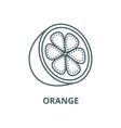orange line icon linear concept outline vector image