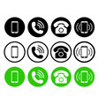 phone icon telephone mobile and call symbols set vector image