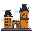 prague castle czech travel tourist attractions and vector image