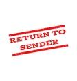 Return To Sender Watermark Stamp vector image