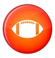 Rugby ball icon flat style vector image vector image