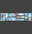 set curling banners vector image