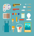 Set of Painter Supplies and Tools Interior Design vector image vector image