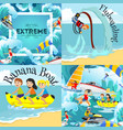 set water extreme sports backgrounds isolated vector image