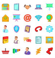 strategy icons set cartoon style vector image vector image