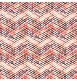 Striped chevron vintage pattern vector image vector image
