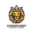 the head of a lion with a royal crown vector image vector image