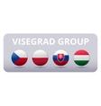 V4 Visegrad group country flag vector image