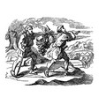 vintage drawing biblical story scouts of vector image