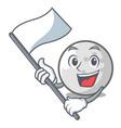 with flag golf ball mascot cartoon vector image