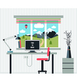 Workplace freelancer vector image vector image