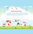world health day family sports of vector image vector image