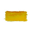 yellow watercolor smear brush strokes vector image vector image