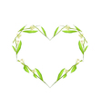 Ylang Ylang Flowers in Heart Shape Frame vector image vector image