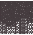 Silhouette of the night city Stars in the sky vector image