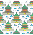traditional asian chinese house seamless pattern vector image