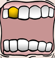 gold teeth vector image