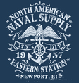 Vintage Nautical Design for Apparel vector image