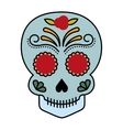 skull drawing tattoo style isolated icon vector image