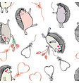 2 seamless spring pattern vector image