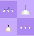 set of distinct shapes lamps