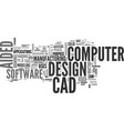 a guide to computer aided design text word cloud vector image vector image