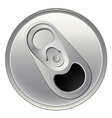 A topview of a beverage can vector image vector image
