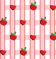 background in strawberries vector image
