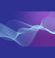 beautiful abstract thin line wave futuristic vector image vector image