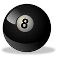 black billiard ball number 8 vector image vector image
