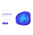 blockchain technology futuristic hud banner with vector image vector image