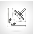 Brush for billiards flat line icon vector image
